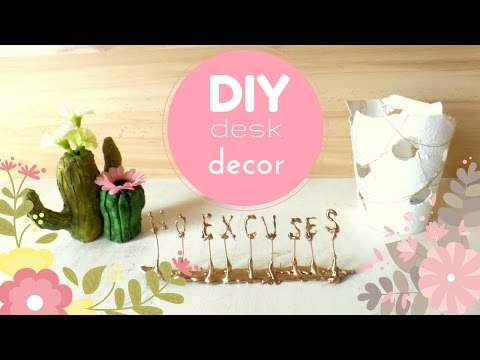 Diy Inspirational Desk Decor For