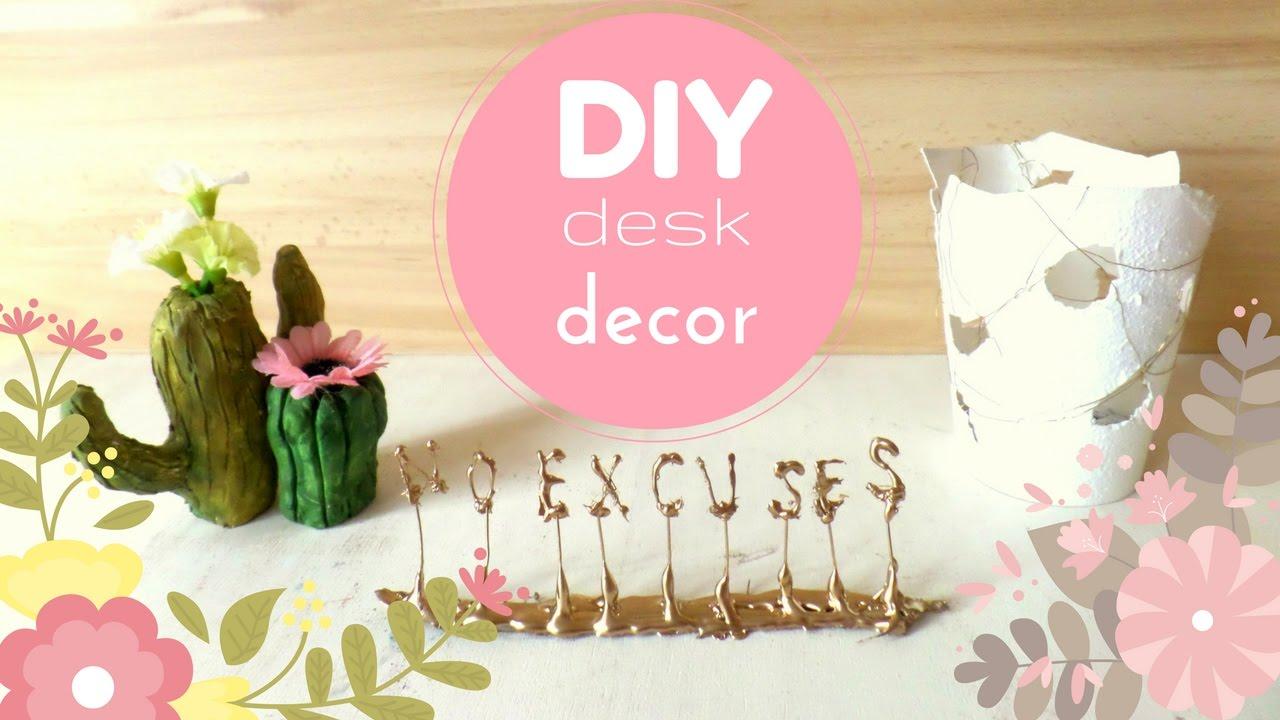 Inspirational Desk Accessories diy inspirational desk decor for 2017 | desk decorating ideas |