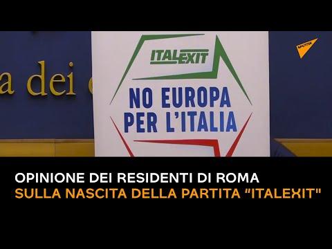 """Gianluigi Paragone, opinione dei residenti di Roma sulla nascita della partita """"Italexit'"""