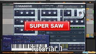 Native Instruments Massive「SUPER SAW」の作り方①(Sleepfreaks DTMスクール)