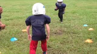 Little kids football hits