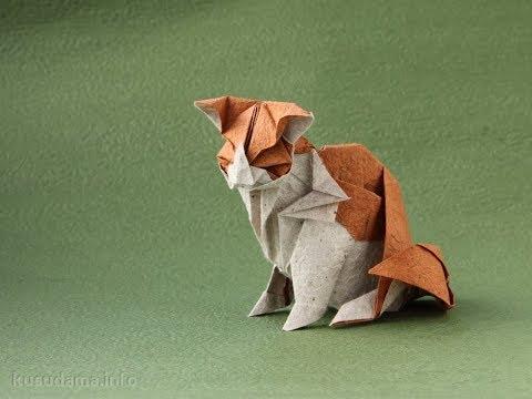 Origami cat by Katsuta Kyohei