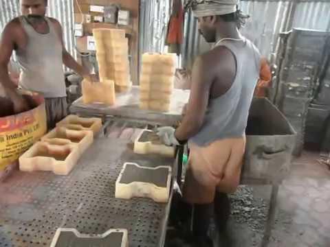 Paver Block Making Process / paver tiles manufacturing process