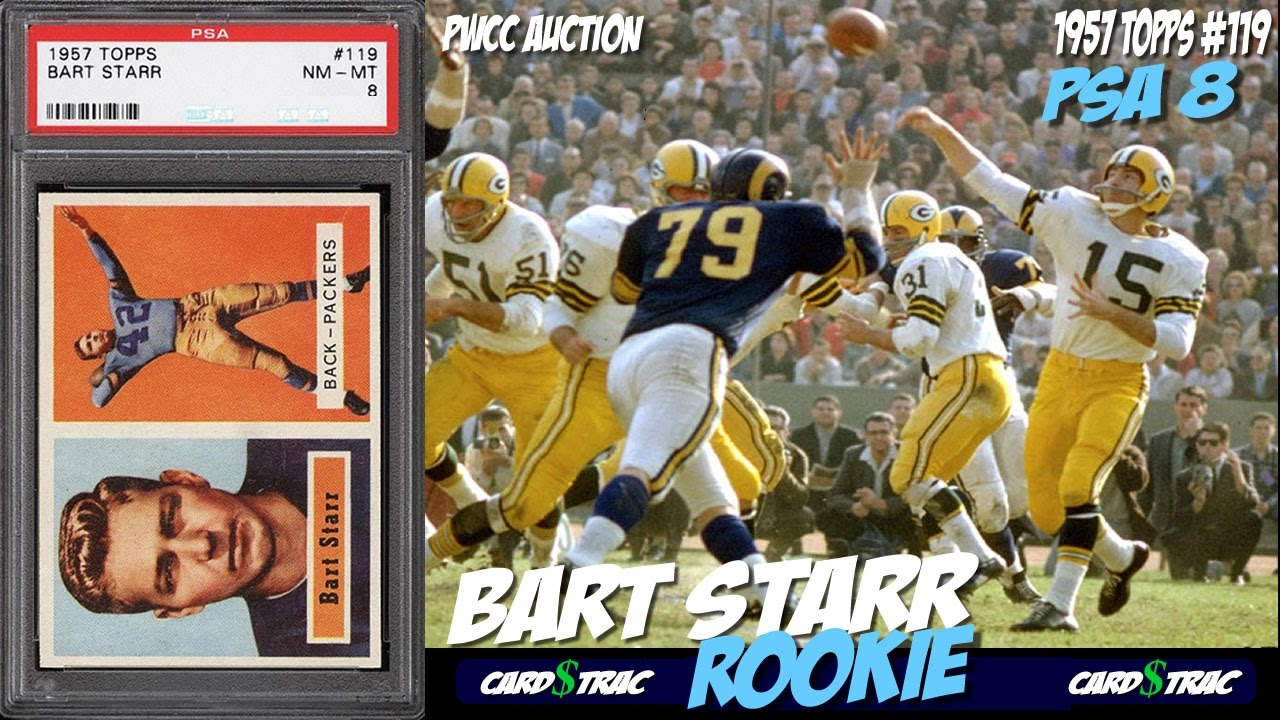 1957 Bart Starr Rookie Card For Sale Graded Psa 8 1957 Bart Starr Rookie Card