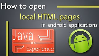 How to open local HTML page in android app