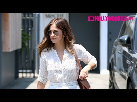 Minka Kelly Is Asked About Her Relationship With Jesse Williams While Leaving The Salon 7.12.17