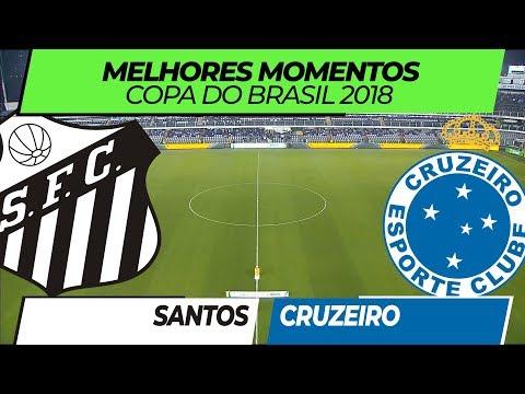Melhores Momentos - Santos 0 x 1 Cruzeiro - Copa do Brasil - 01/08/2018