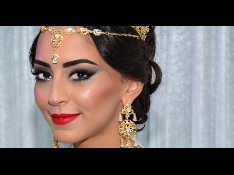a97777c67b6f5 Moroccan bridal makeup TUTORIAL - مكياج العروس المغربية - YouTube