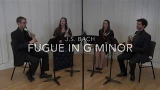 J.S Bach - Fugue in G Minor - performed by the Borealis Saxophone Quartet