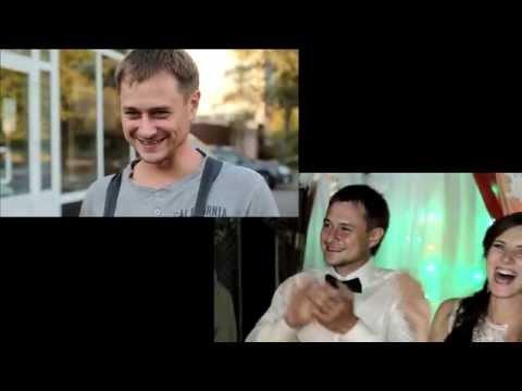 Эмоции зашкаливают!!! Молодожены впервые смотрят видео Love Story - Ржачные видео приколы