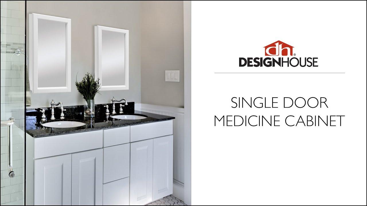 Design House Singe Door Medicine Cabinet Product Overview