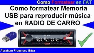 Tu Radio NO Lee la USB Aquí La SOLUCIÓN Como formatear en FAT desde el CMD