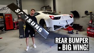 Ferrari GT3 458 Widebody Install! [Part 3]