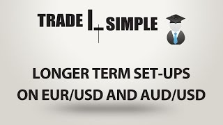 Learn forex - Longer term set-ups on EUR/USD and AUD/USD
