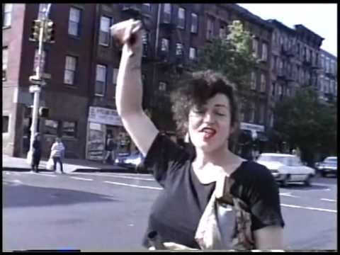 Walking with Tish Gervais in the East Village - mid 1980s