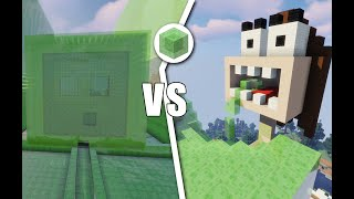 Building A Minecraft Base With Only Slime Blocks Challenge