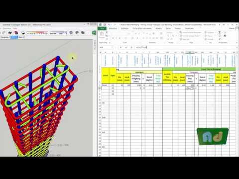Buat Aplikasi Excel Kolom Beton Bertulang Hitung Tulangan Beton Bekisting Youtube