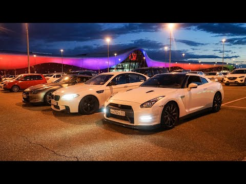 Что могут BMW M5 против NISSAN GT-R!!!   DRAG ROLL-ON  GTR vs БМВ M5