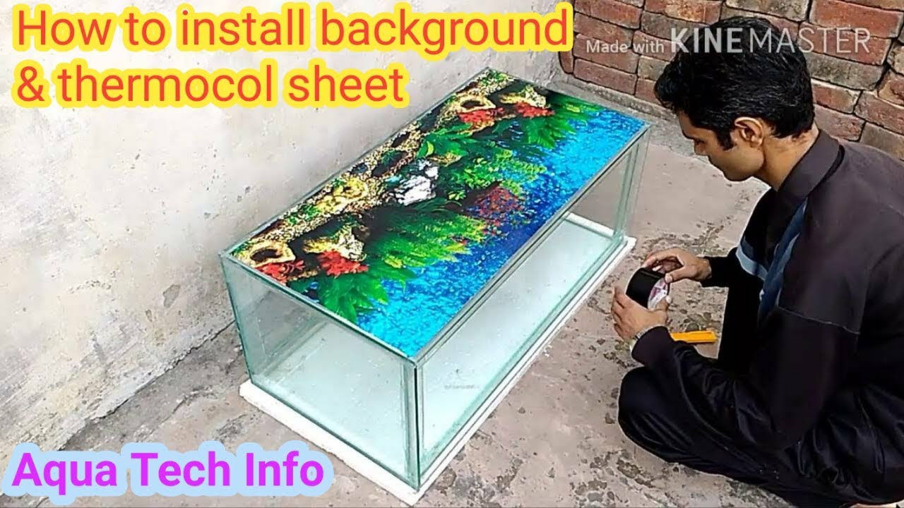 3 how to install background poster externally thermocol sheet at the base youtube. Black Bedroom Furniture Sets. Home Design Ideas