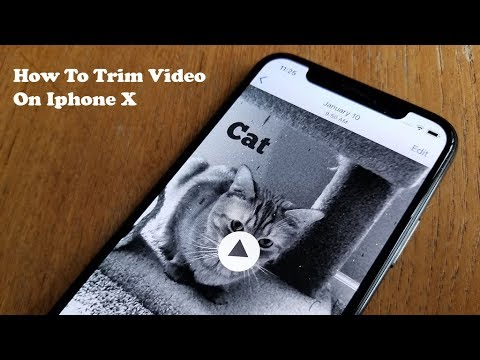 How to edit a video on iphone x