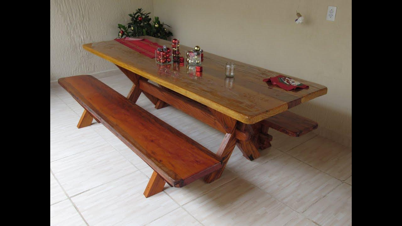 como fazer uma mesa de madeira pé em x   #9D322E 3264x2448