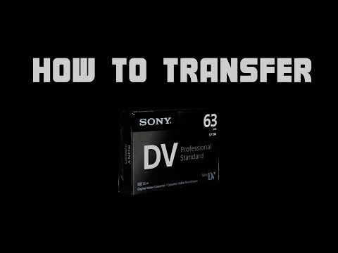 How To Transfer VX1000 Mini DV Tapes Onto Your Computer - The Right Way