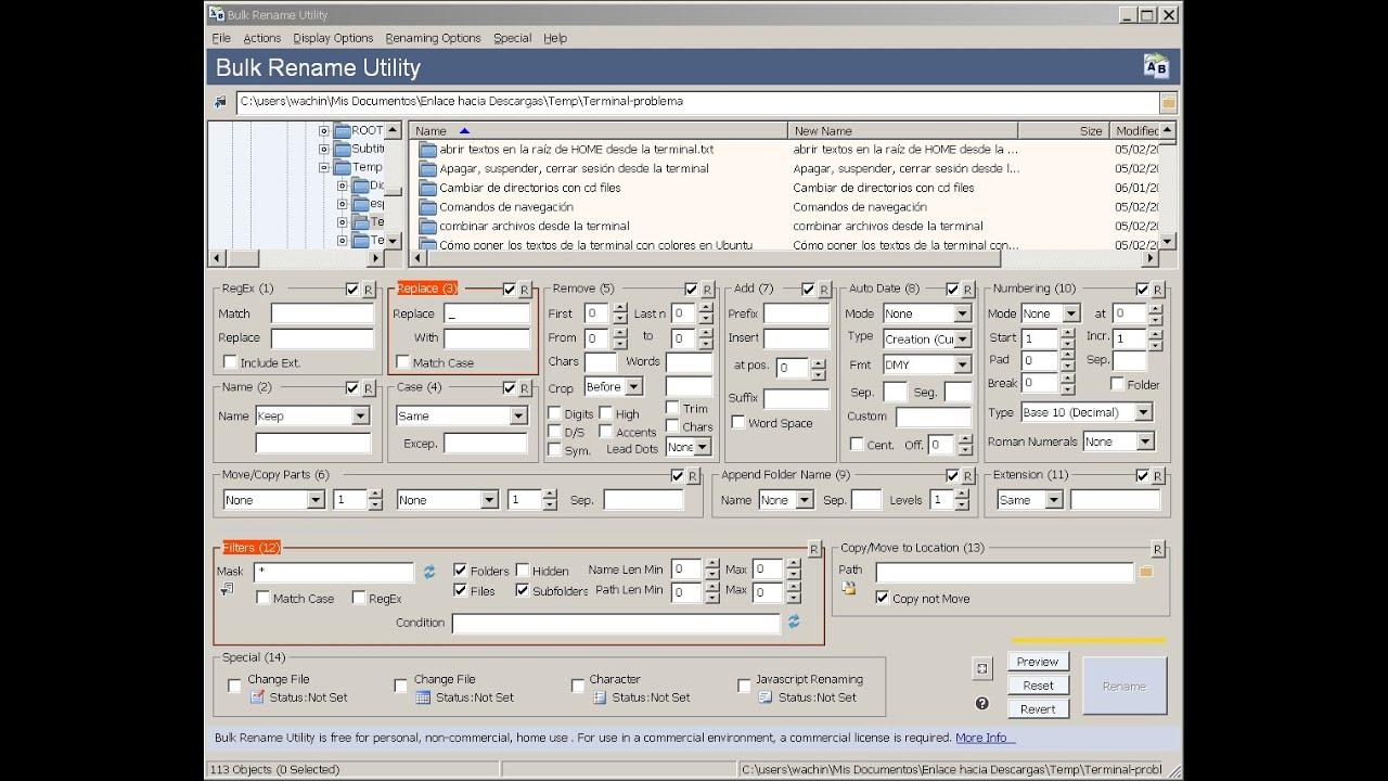 Batch Rename Files Mac Terminal