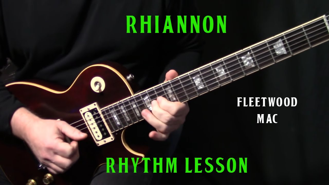 how to play rhiannon on guitar by fleetwood mac part 1 rhythm guitar lesson tutorial. Black Bedroom Furniture Sets. Home Design Ideas
