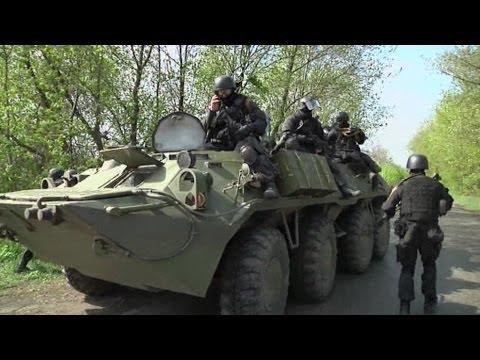 Heavily armed Ukrainian forces deployed near Slavyansk
