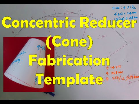 Concentric Reducer Fabrication Template (how to build a cone)