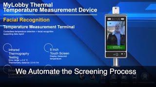 Temperature kiosk COVID-19 screening