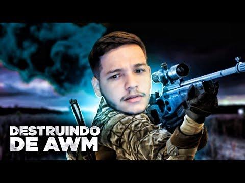 DESTRUINDO DE AWM NO PUBG
