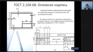 Лекция 1. Правила оформления чертежей. ГОСТы ЕСКД | Инженерная Графика | Лекториум