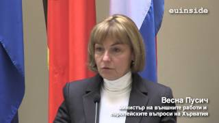 Igor Luksic and Vesna Pusic on bilateral issues