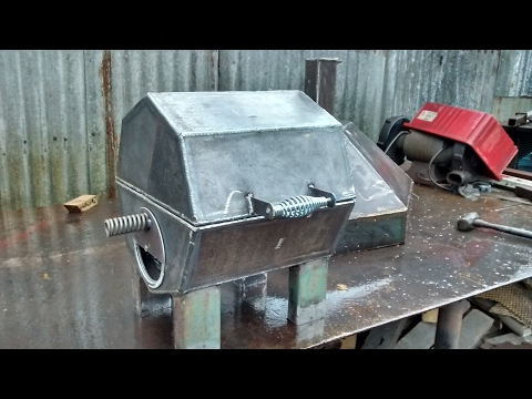 Small heavy duty bbq pit build