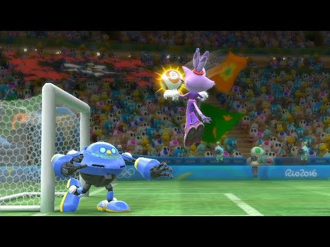 Mario and Sonic at the Rio 2016 Olympic Games  #Football | Team Knuckles vs Team Bowser Jr #12