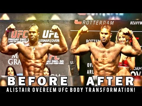 Alistair Overeem Ufc Body Transformation Over The Years