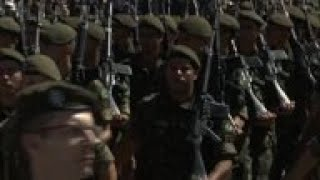 Brazil's president attends military ceremony