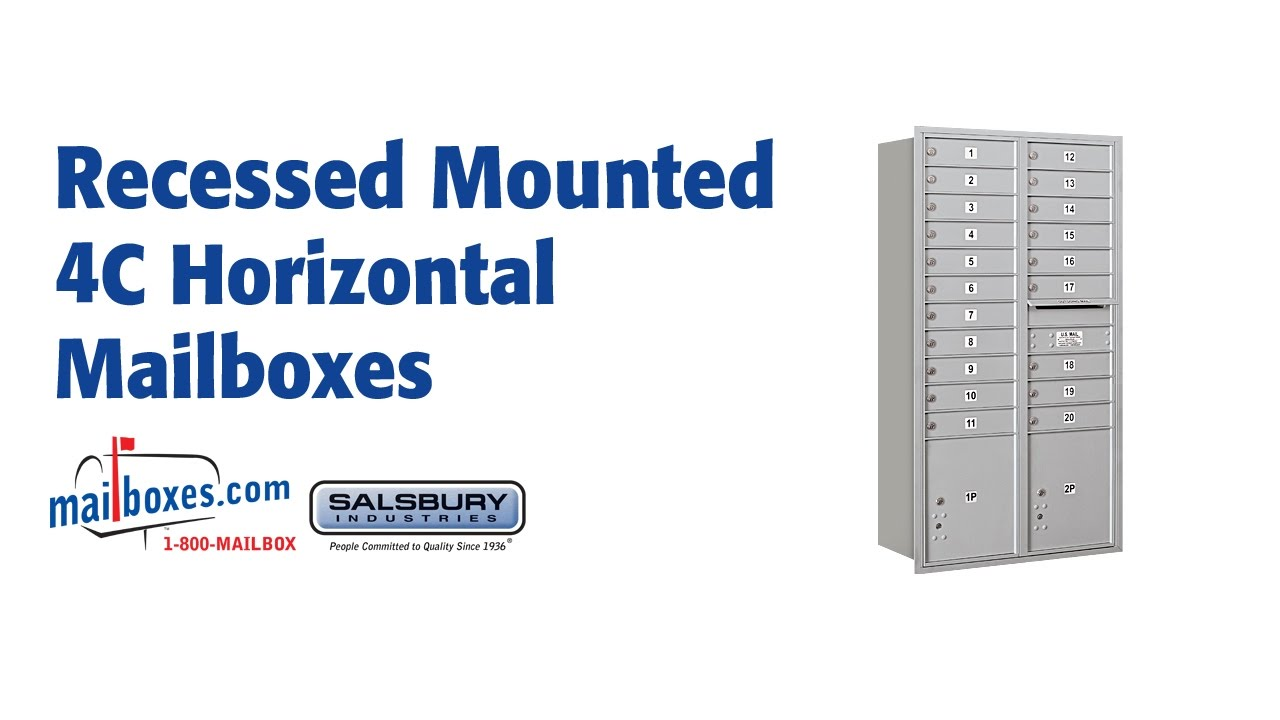 Salsbury Industries 3707CK 4C Horizontal Mailbox Connector Kit for 7 Door High Units