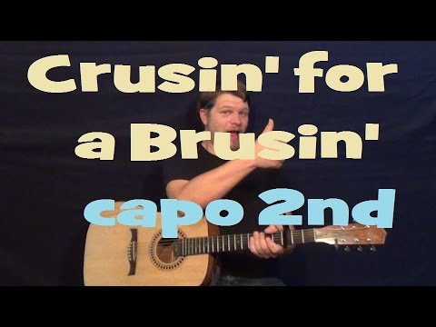 Cruisin For A Bruisin' (Teen Beach Movie) Easy Strum Guitar Lesson Capo 2nd Fret How to Play