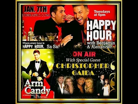 """Happy Hour excerpt:  Christopher Gaida - Celebrity Escort and author of """"Arm Candy"""""""