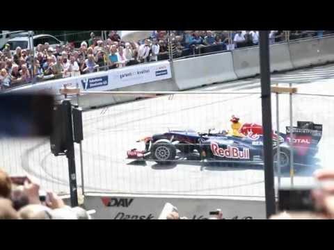 David Coulthard Copenhagen Historic Grand Prix Red Bull F1 racer