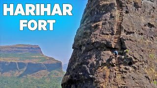 Harihar Fort   हरिहर किल्ला   A Dream Trek for Every Traveller and Adventure Lover   Trimbak, Nashik