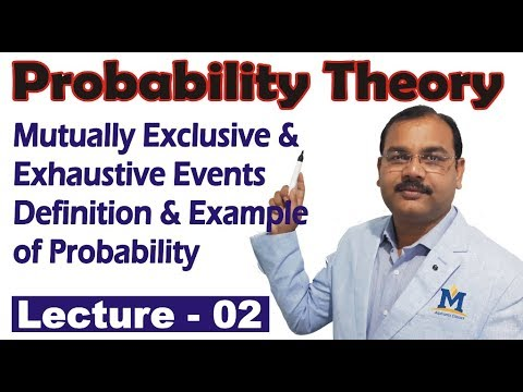 Probability Theory   Mutually Exclusive And Exhaustive Events, Definition Of Probability In Hindi