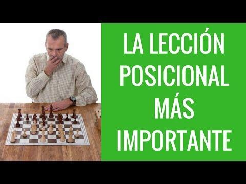 La lección de ajedrez posicional más importante