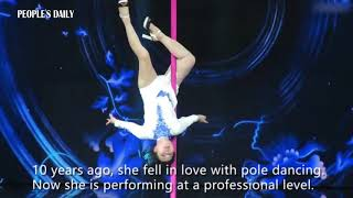 73-year-old pole dancer goes viral on soial media in China