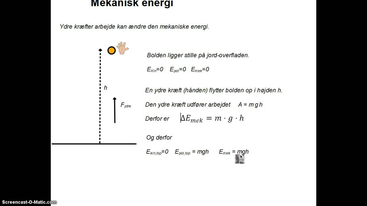 Ændring i mekanisk energi