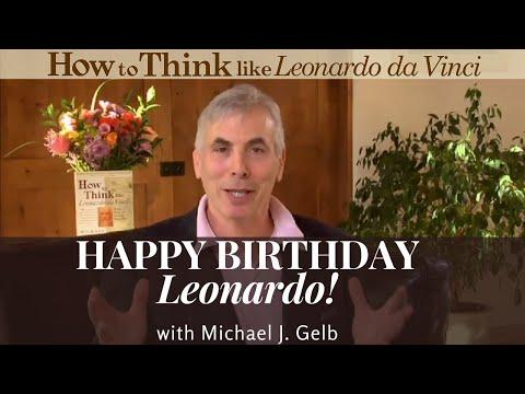 Leonardo Da Vinci's  Birthday Message