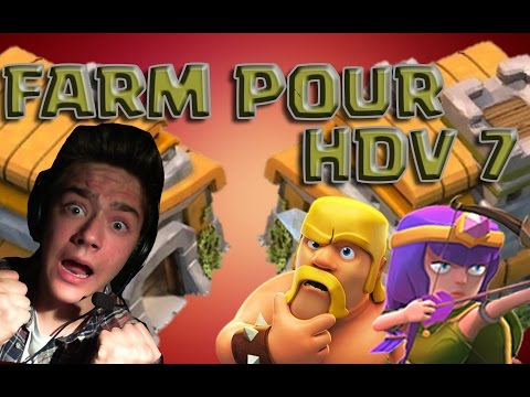 CLASH OF CLANS [FACECAM] ~ FARMING EN LIVE HDV 6 ON PASSE HDV 7 !!