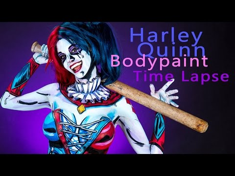 Harley Quinn Body Paint Tutorial Time Lapse
